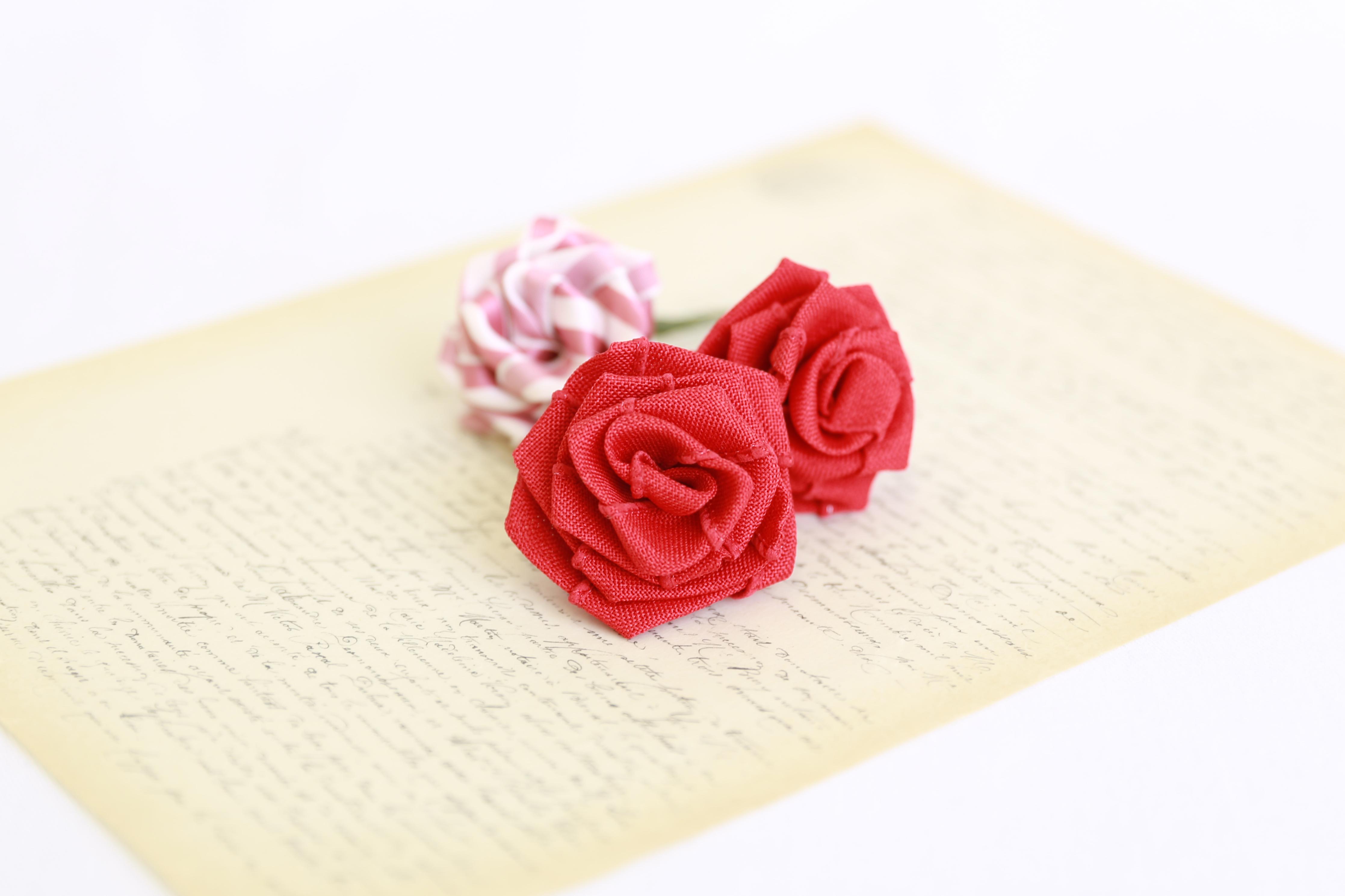 ローズリボン巻き薔薇